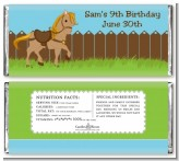 Pony Brown - Personalized Birthday Party Candy Bar Wrappers