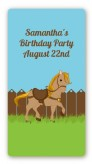 Pony Brown - Custom Rectangle Birthday Party Sticker/Labels