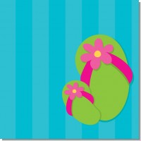 Flip Flops Girl Pool Party Birthday Party Theme