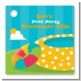 Pool Party - Personalized Birthday Party Card Stock Favor Tags thumbnail