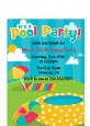 Pool Party - Birthday Party Petite Invitations thumbnail