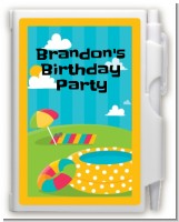 Pool Party - Birthday Party Personalized Notebook Favor