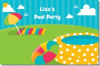 Pool Party - Personalized Birthday Party Placemats