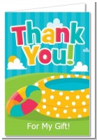 Pool Party - Birthday Party Thank You Cards
