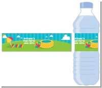 Pool Party - Personalized Birthday Party Water Bottle Labels