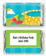 Pool Party - Personalized Birthday Party Mini Candy Bar Wrappers thumbnail
