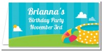 Pool Party - Personalized Birthday Party Place Cards