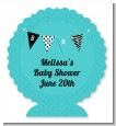 Posh Mom To Be Blue - Personalized Baby Shower Centerpiece Stand thumbnail