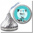 Posh Mom To Be Blue - Hershey Kiss Baby Shower Sticker Labels thumbnail