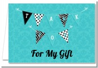 Posh Mom To Be Blue - Baby Shower Thank You Cards