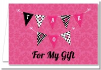 Posh Mom To Be - Baby Shower Thank You Cards