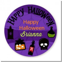 Potion Bottles - Round Personalized Halloween Sticker Labels