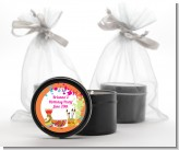 Pottery Painting - Birthday Party Black Candle Tin Favors