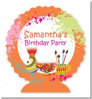 Pottery Painting - Personalized Birthday Party Centerpiece Stand