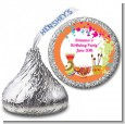 Pottery Painting - Hershey Kiss Birthday Party Sticker Labels thumbnail