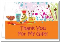 Pottery Painting - Birthday Party Thank You Cards