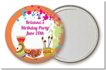 Pottery Painting - Personalized Birthday Party Pocket Mirror Favors