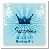 Prince Royal Crown - Personalized Baby Shower Card Stock Favor Tags
