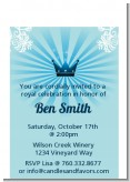 Prince Royal Crown - Baby Shower Petite Invitations