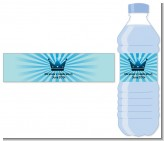 Prince Royal Crown - Personalized Baby Shower Water Bottle Labels
