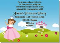 Princess Rolling Hills - Birthday Party Invitations