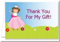 Princess Rolling Hills - Birthday Party Thank You Cards