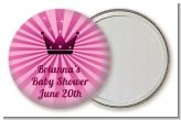 Princess Royal Crown - Personalized Baby Shower Pocket Mirror Favors