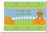 Pumpkin Baby African American - Baby Shower Thank You Cards