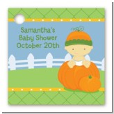 Pumpkin Baby Asian - Personalized Baby Shower Card Stock Favor Tags