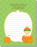 Pumpkin Baby Asian - Baby Shower Notes of Advice