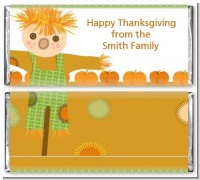 Pumpkin Patch Scarecrow Fall Theme - Personalized Thanksgiving Candy Bar Wrappers