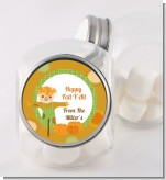 Pumpkin Patch Scarecrow Fall Theme - Personalized Halloween Candy Jar