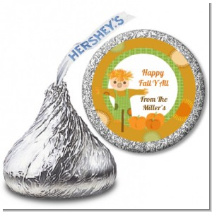 Pumpkin Patch Scarecrow Fall Theme - Hershey Kiss Halloween Sticker Labels