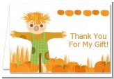 Pumpkin Patch Scarecrow Fall Theme - Thanksgiving Thank You Cards