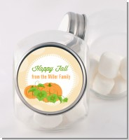 Pumpkin Trio Fall Theme - Personalized Halloween Candy Jar