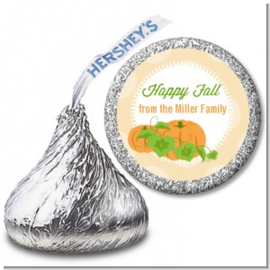 Pumpkin Trio Fall Theme - Hershey Kiss Halloween Sticker Labels
