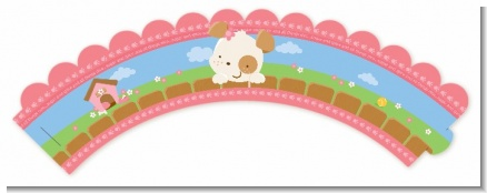 Puppy Dog Tails Girl - Baby Shower Cupcake Wrappers