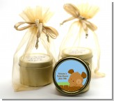 Puppy Dog Tails Boy - Baby Shower Gold Tin Candle Favors