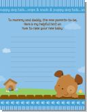 Puppy Dog Tails Boy - Baby Shower Notes of Advice