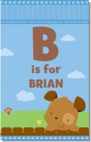 Puppy Dog Tails Boy - Personalized Baby Shower Nursery Wall Art