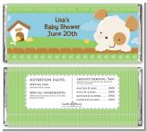Puppy Dog Tails Neutral - Personalized Baby Shower Candy Bar Wrappers