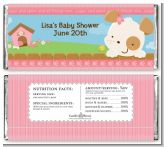Puppy Dog Tails Girl - Personalized Baby Shower Candy Bar Wrappers