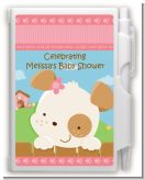 Puppy Dog Tails Girl - Baby Shower Personalized Notebook Favor
