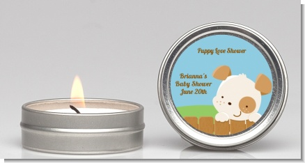 Puppy Dog Tails Neutral - Baby Shower Candle Favors