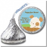 Puppy Dog Tails Neutral - Hershey Kiss Baby Shower Sticker Labels