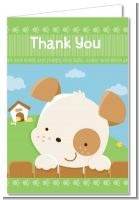 Puppy Dog Tails Neutral - Baby Shower Thank You Cards