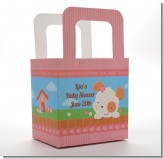 Puppy Dog Tails Girl - Personalized Baby Shower Favor Boxes