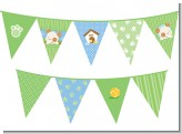 Puppy Dog Tails Neutral - Baby Shower Themed Pennant Set