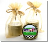 Race Car - Birthday Party Gold Tin Candle Favors