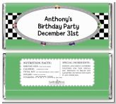 Race Car - Personalized Birthday Party Candy Bar Wrappers